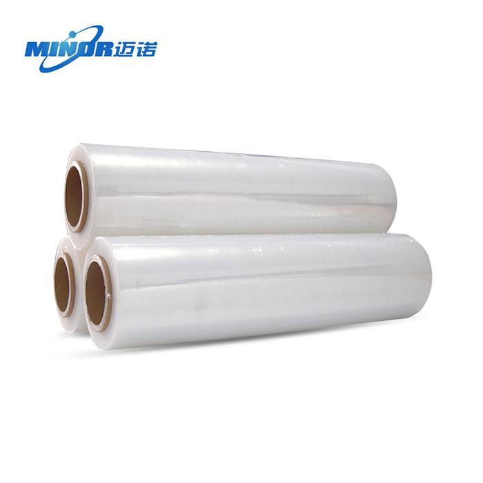 苏州迈诺厂家直销高粘PE缠绕膜手工拉伸膜包装膜保护塑料膜