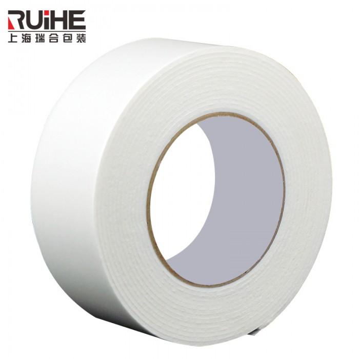 上海瑞合双面胶宽强力固定海棉强粘性两面纸胶带墙面高粘超薄批发