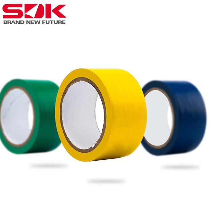 江苏斯迪克警示胶带黄色绿色蓝色地贴地胶地板彩色警示批发胶带