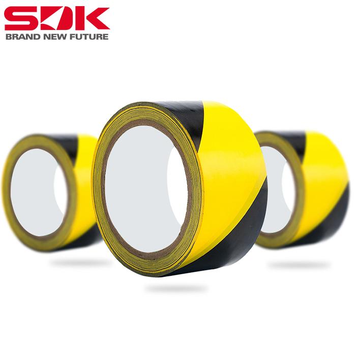 江苏斯迪克PCV黄黑警示胶带地板胶带彩色划线胶带隔离斑马线