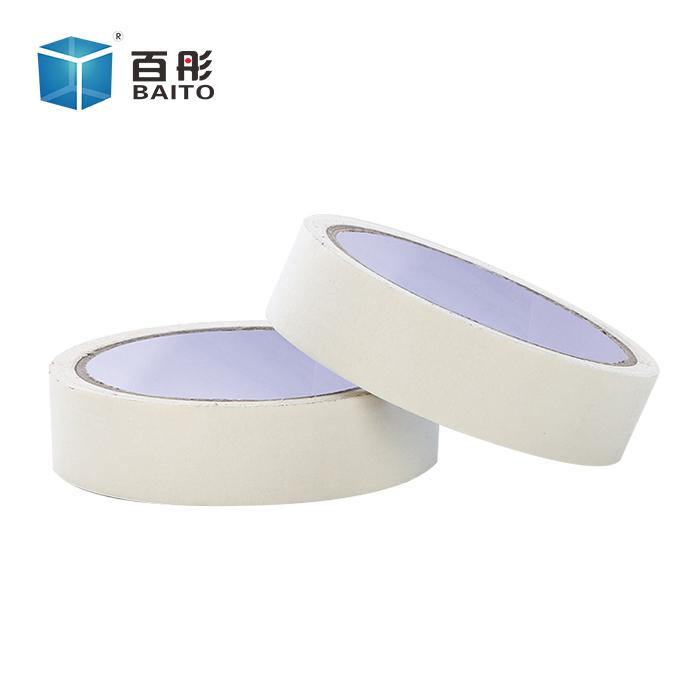 百彤高温美纹纸胶带白色单面美纹纸喷漆遮蔽装修胶带整箱批发定制