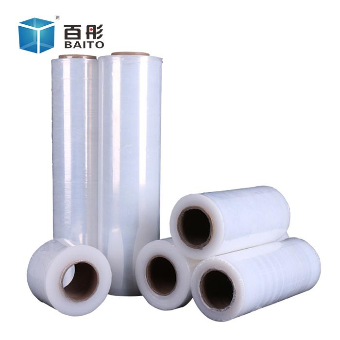 百彤pe拉伸膜 自粘托盘缠绕膜 透明塑料包装薄膜 50cm宽