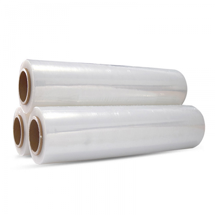 厂家直销高粘PE缠绕膜手工拉伸膜包装膜保护塑料膜批发定制