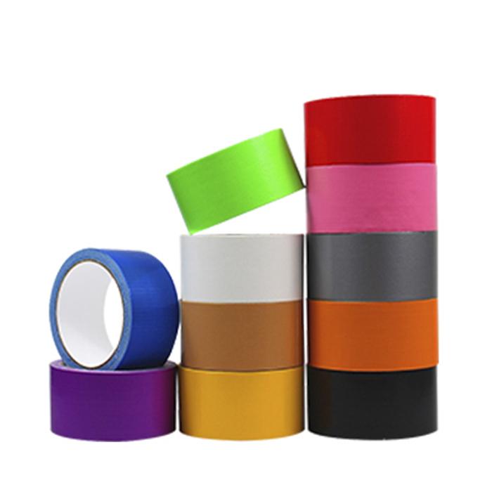 坤辉黑色布基胶带强力防水耐磨地毯胶带彩色单面高粘抗油胶带支持