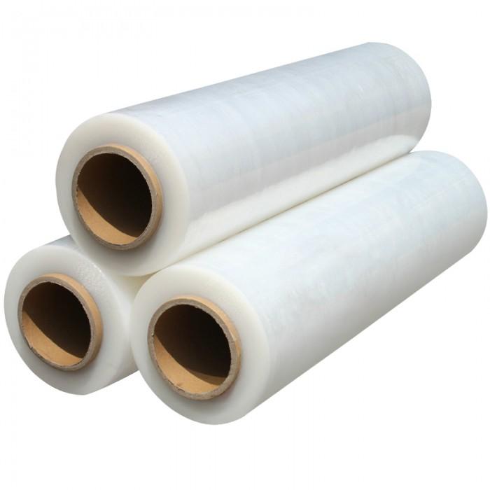 江苏包装缠绕膜拉伸膜厂家 PE拉伸缠绕膜50cm 塑料包装膜打包膜