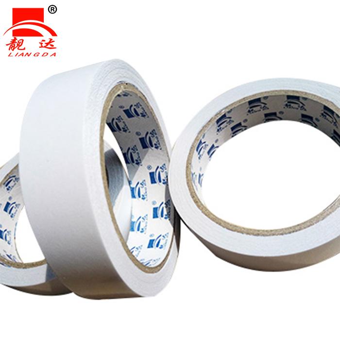 靓达厂家直胶带白色美纹纸胶带可写字防染色遮蔽喷漆胶带批发定制