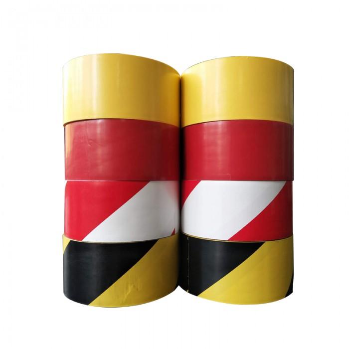 警示膠帶PVC黑黃斑馬線警戒地標貼地板地面膠帶彩色劃線地板膠帶