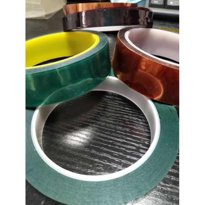 晶華PET綠色高溫膠帶PCB線路板電鍍汽車噴漆烤漆無痕遮蔽膠帶高溫玻璃粘貼保護膜