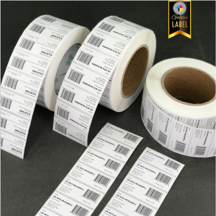 实力工厂小字贴纸印刷 条码标签 条形码打印不干胶 卷筒标签定做