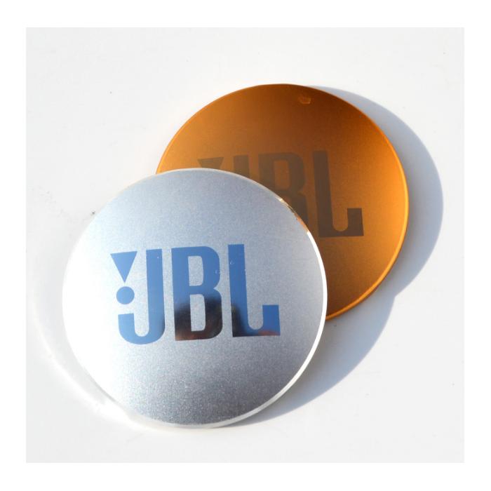 工厂直销铝质丝印氧化高光金属标牌铭牌加工定制用于耳机盖香水盒