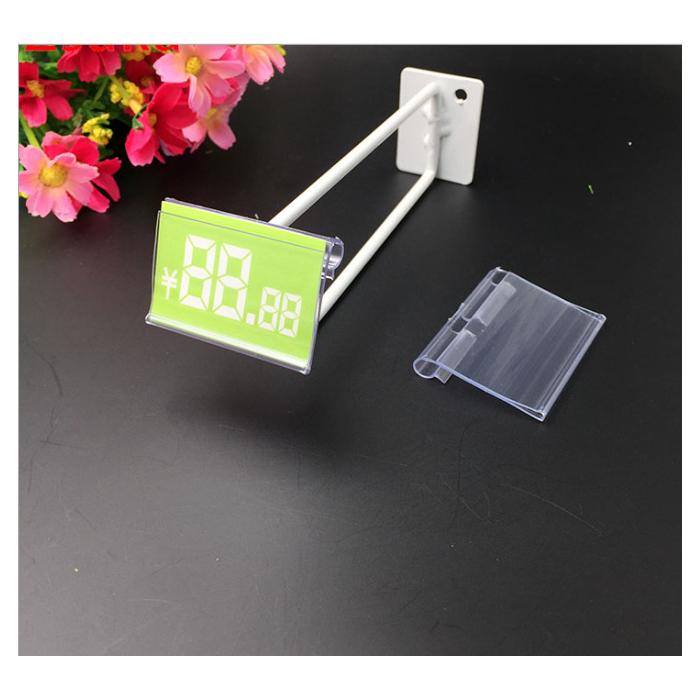 小号透明PVC价格牌标签吊牌价钱条双线价格标牌冲孔便利店超市