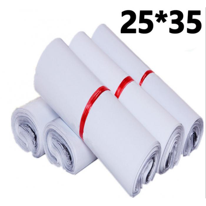 厂家批发 28*42白色小号新料快递袋服装快递打包防水包装袋定做100只每包