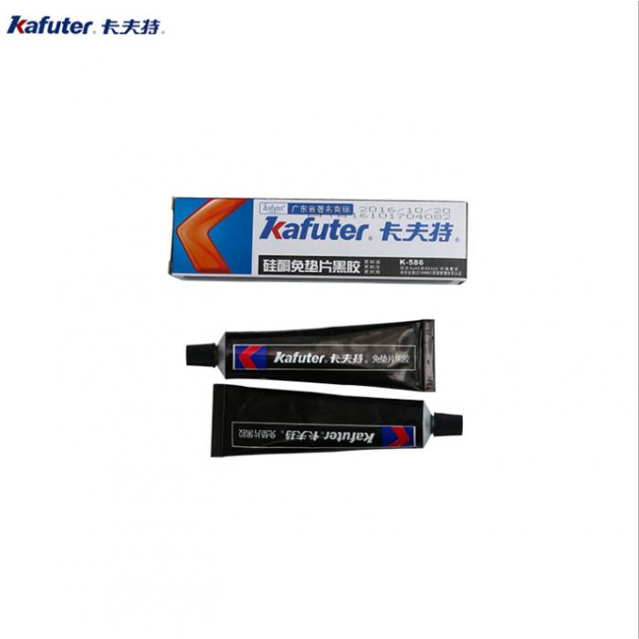卡夫特硅酮免垫片黑胶K-586防水耐油耐高温密封胶55克盒装586黑胶
