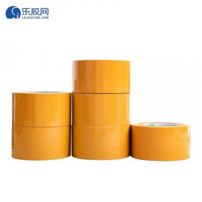 黄色封箱胶带  55*130  多规格可选   韧性强、耐拉伸 1箱