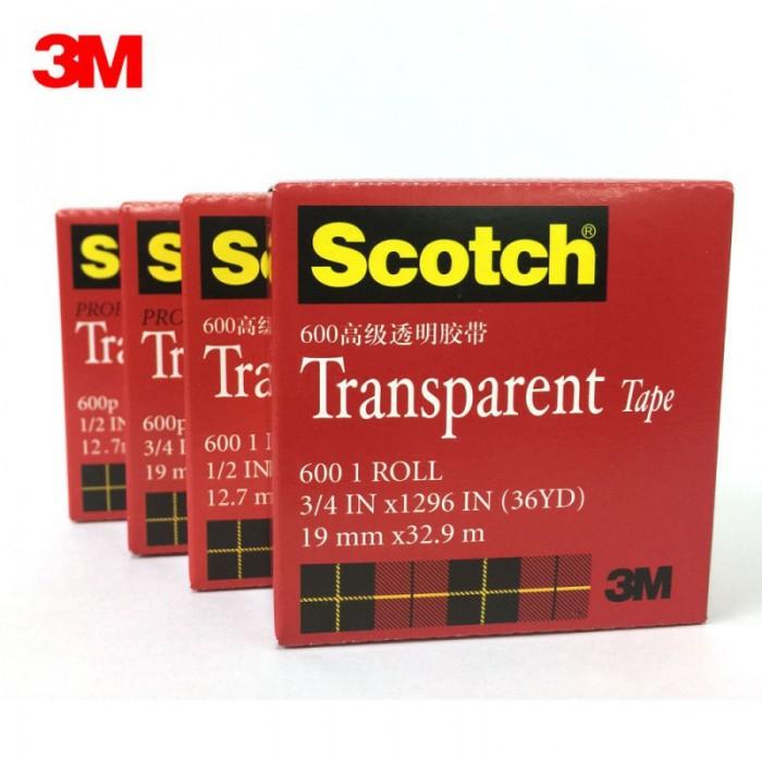 3M思高600P 12.7mm*33m 多规格可选  粘度稳定、透明度久 1卷