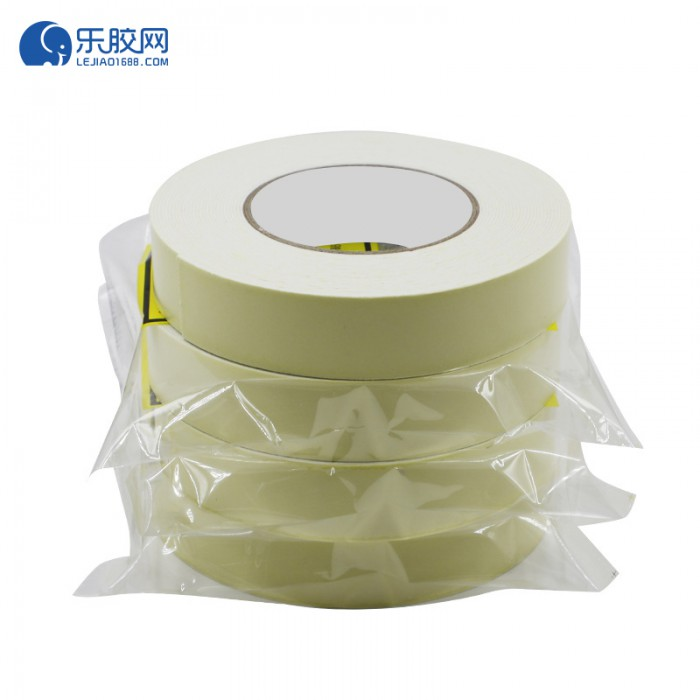 浅黄EVA泡棉双面胶带 3.6cm*10m*1mm  粘性强、耐熔性好 1卷