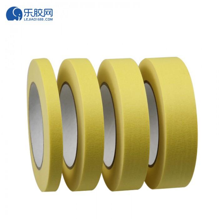 黄色耐温120度美纹纸 1cm*20m*0.16mm 不残胶、易撕 1卷