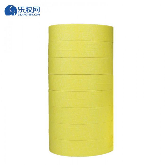 黄色耐温120度美纹纸 1.8cm*20m*0.16mm 不残胶、易撕 1卷