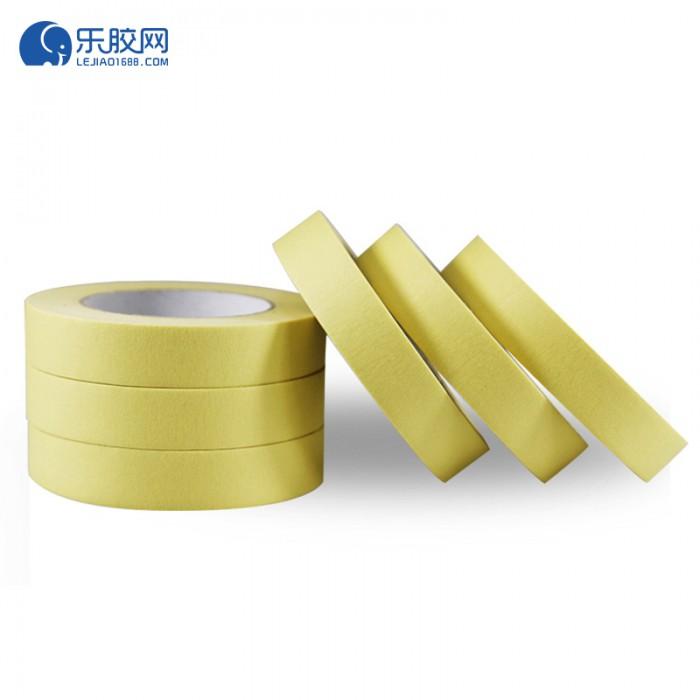 黄色耐温120度美纹纸 1cm*50m*0.16mm 不残胶、易撕 1卷